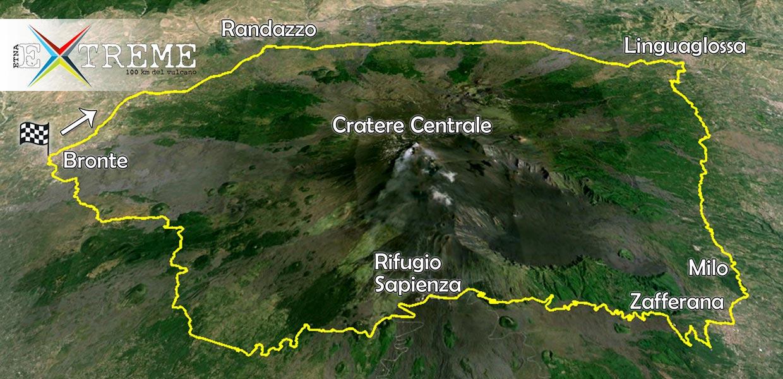 Percorso Etna Extreme 100 km